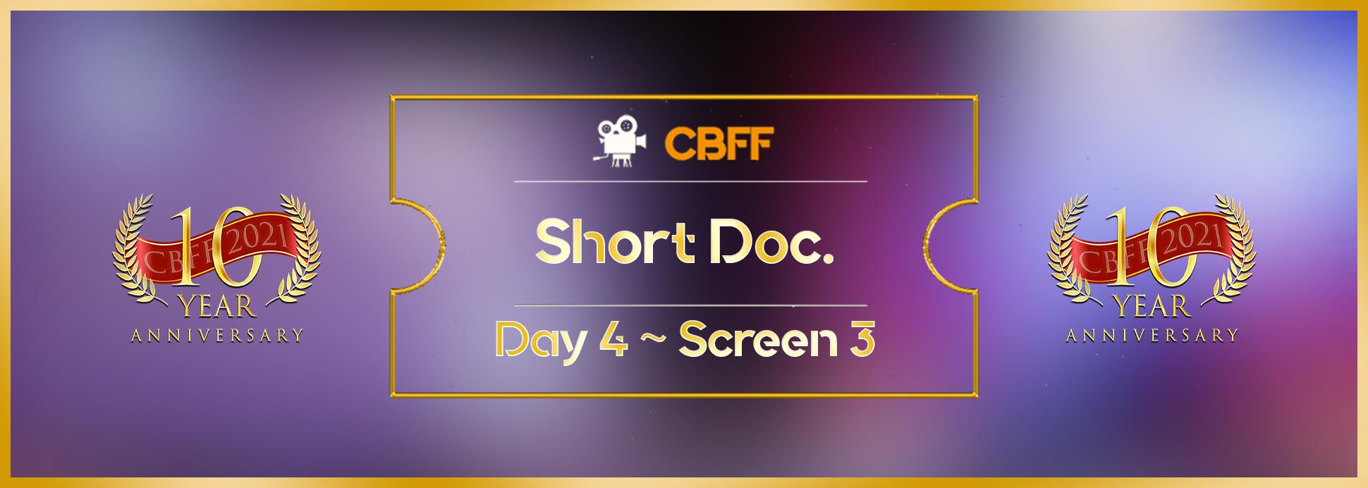 Day 4, Screen 3: Short Documentary